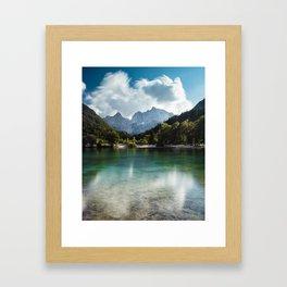 Lake Jasna in Kranjska Gora, Slovenia Framed Art Print
