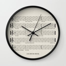Everybody, let's rock Wall Clock