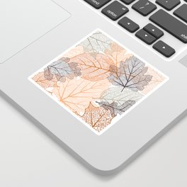 Autumn's Falling Leaves Sticker