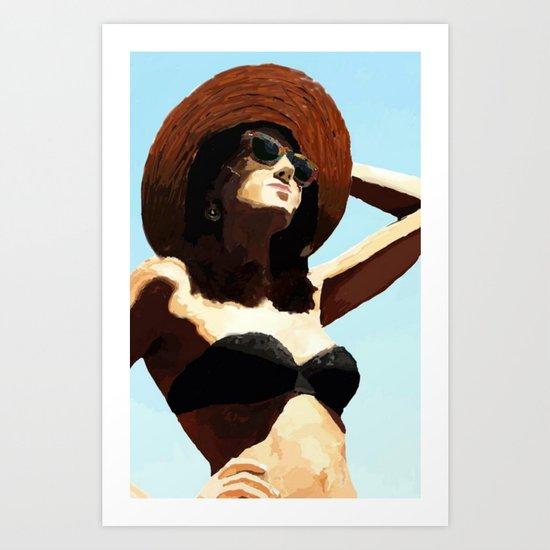 Beach girl Art Print