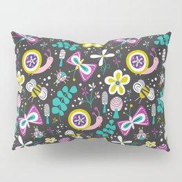 Happy Critters Black Pillow Sham