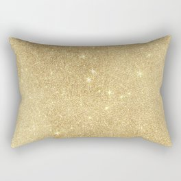 Elegant stylish faux gold glitter Rectangular Pillow