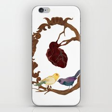 Two birds and a heart iPhone & iPod Skin
