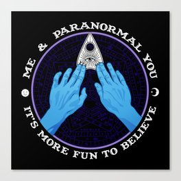 Me & Paranormal You - James Roper Design - Ouija (white lettering) Canvas Print