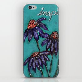 Teal Dasiy iPhone Skin
