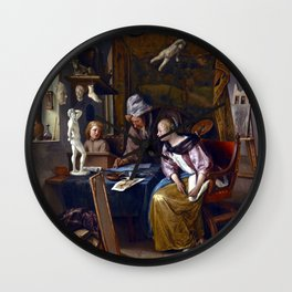 Jan Steen The Drawing Lesson Wall Clock