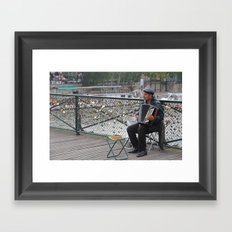Parisian Busker Framed Art Print