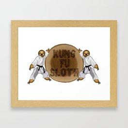 Kung Fu Sloth! Framed Art Print