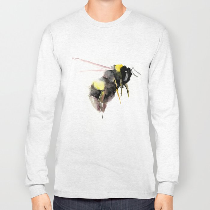 Bumblebee, bee art, bee design Long Sleeve T-shirt