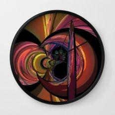 Crescent Moon Fractal Wall Clock