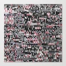 Comfortable Ambiguity (P/D3 Glitch Collage Studies) Canvas Print