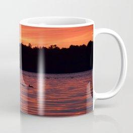 Bass Lake at sunset, with ducks Coffee Mug