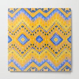 itzel - pineapple + azure Metal Print