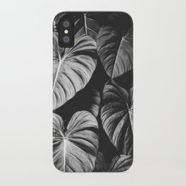 Monstera Black and White iPhone Case