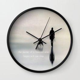 man and dog Wall Clock