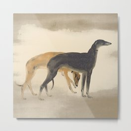 Two Sighthounds Metal Print