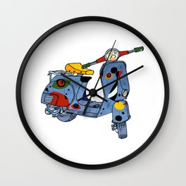 Joan Miró Vespa Scooter,Lyrical, Abstract,Famous painter-Motorcycle Wall Clock
