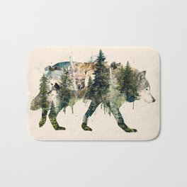 Wolf is the Pride of Nature Bath Mat