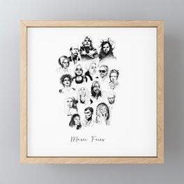 Music Faces Framed Mini Art Print