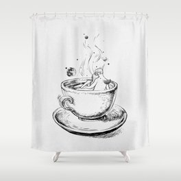 Heaven cup. Shower Curtain