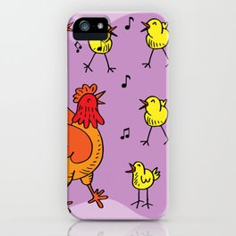 Chick Sing a Song iPhone Case