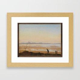 An Evening beside Lake Arresø , Johan Thomas Lundbye (Danish, Kalundborg 1818–1848 Bedsted) Framed Art Print