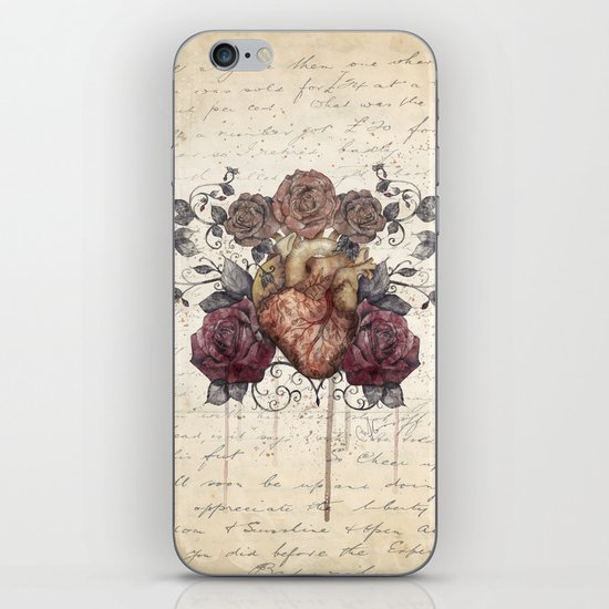 Flowers from my heart iPhone Skin