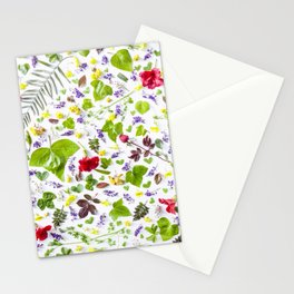 Leaves and flowers pattern (27) Stationery Cards