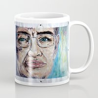 stephen king Mugs featuring Stephen Hawking by Michael Cu Fua