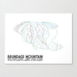 Brundage Mountain, ID - Minimalist Trial Art Canvas Print
