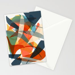 Abstract Fish Stationery Cards
