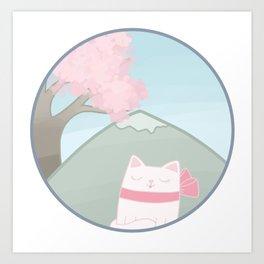 Springtime Kitten Art Print
