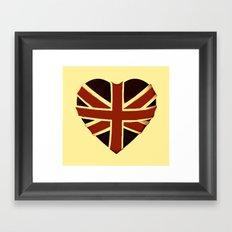 Vintage Union Flag ~ Love Framed Art Print