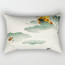 Frog in the swamp  - Vintage Japanese Woodblock Print Art Rectangular Pillow