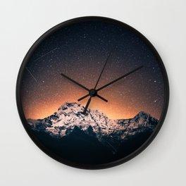 Magical Mountain #galaxy #photography Wall Clock