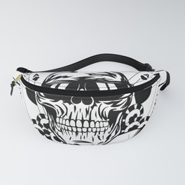 Aviator skull art, custom gift design Fanny Pack