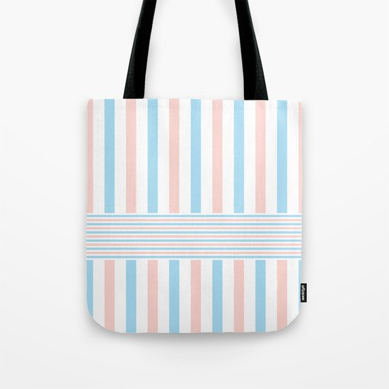 Blue, Pink & White 2 Tote Bag