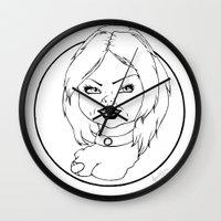tiffany Wall Clocks featuring Tiffany by Albino Bunny