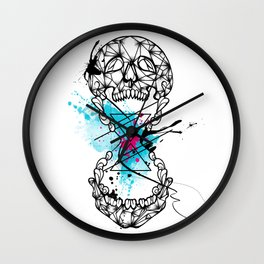 Abstract skull Wall Clock