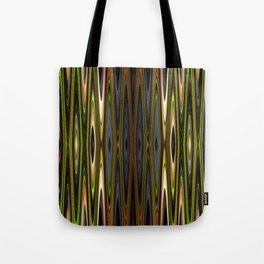Green-Blue-Gray Zig-Zags Tote Bag