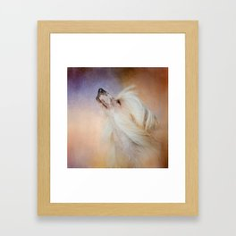 Wind In Her Hair - Chinese Crested Hairless Dog Framed Art Print
