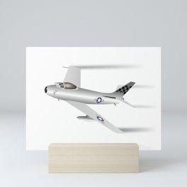 Air Force F-86 Sabre Jet Fighter Mini Art Print