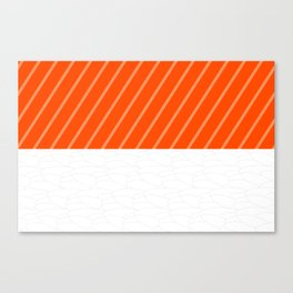 Simple Salmon Sushi Canvas Print