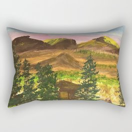 Sunny day at the cabin Rectangular Pillow