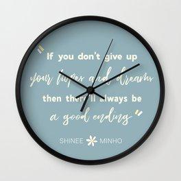 SHINEE Minho Quote Wall Clock