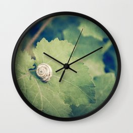 Shell Tan Wall Clock