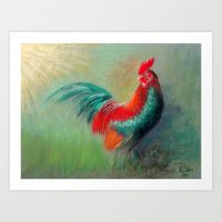 cock Art Prints featuring Cock by ReniART