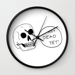 Positive Skeleton Wall Clock