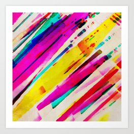 45 Degrees of Color Art Print