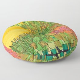Seaweed City Floor Pillow